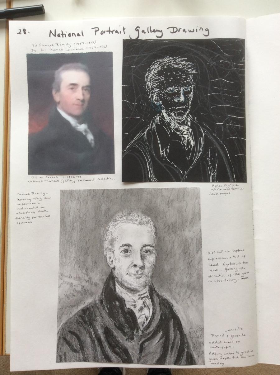 National Portrait Gallery sketchbook